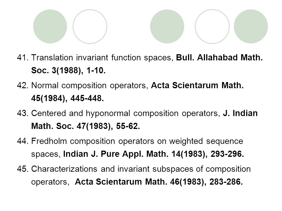 Translation invariant function spaces, Bull. Allahabad Math. Soc