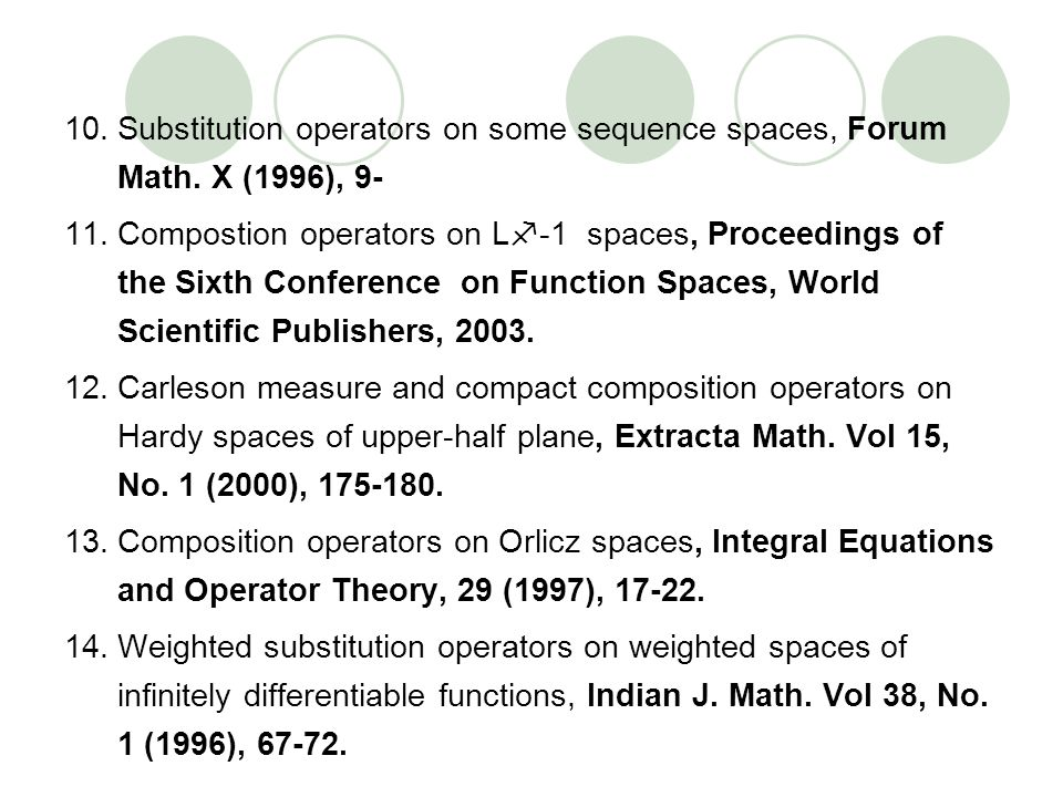 Substitution operators on some sequence spaces, Forum Math