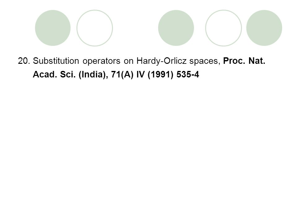 Substitution operators on Hardy-Orlicz spaces, Proc. Nat. Acad. Sci