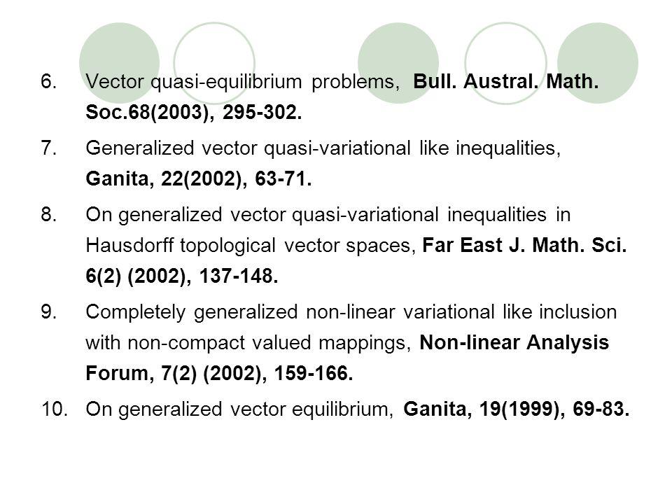 Vector quasi-equilibrium problems, Bull. Austral. Math. Soc