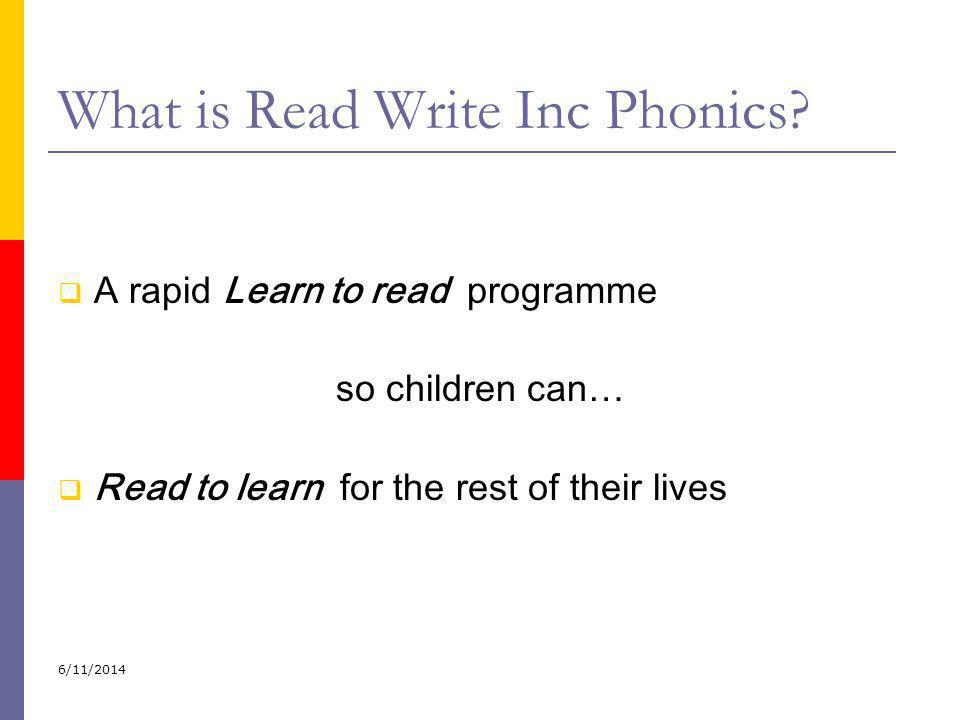 What is Read Write Inc Phonics