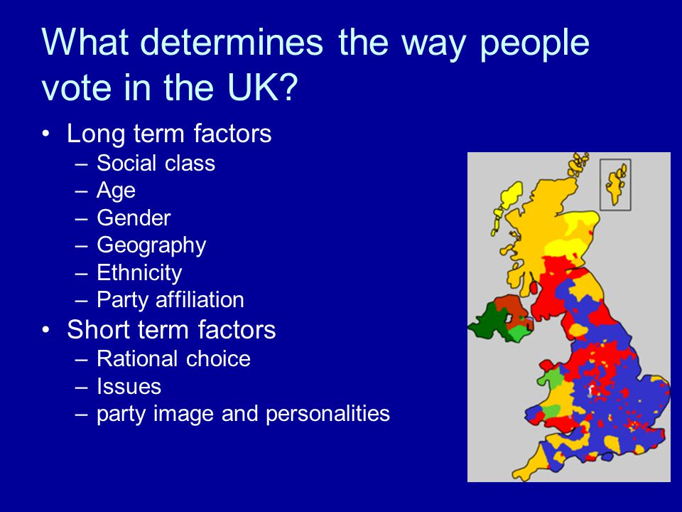 What determines the way people vote in the UK