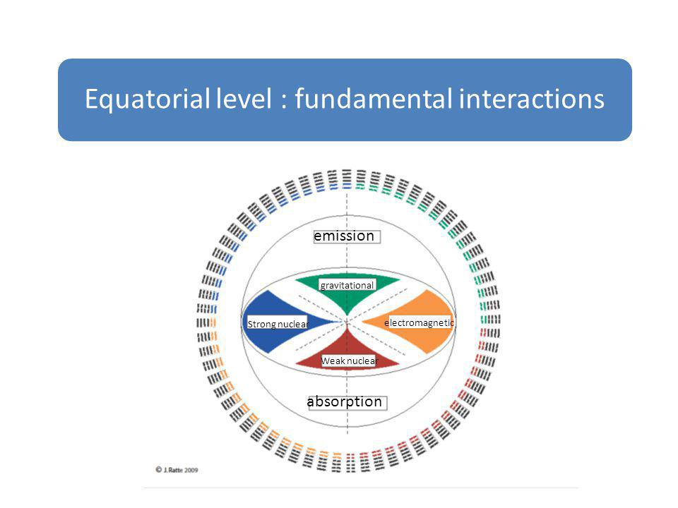 Equatorial level : fundamental interactions