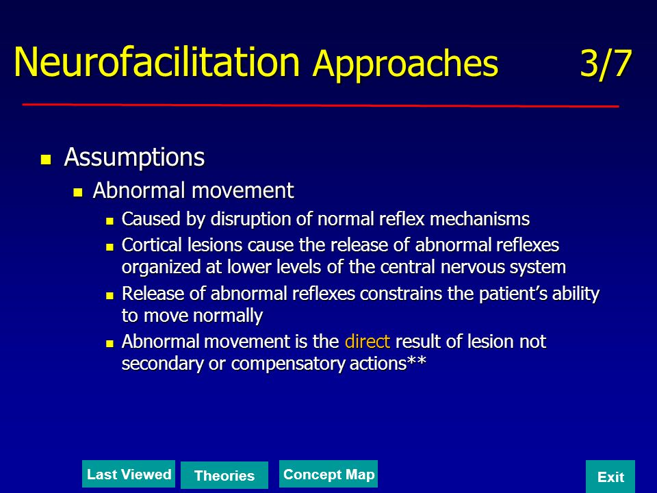 Neurofacilitation Approaches 3/7