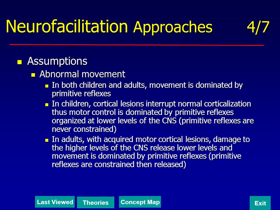 Neurofacilitation Approaches 4/7