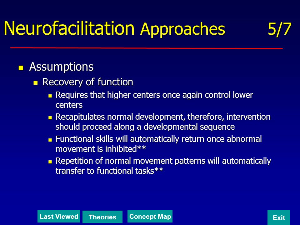 Neurofacilitation Approaches 5/7