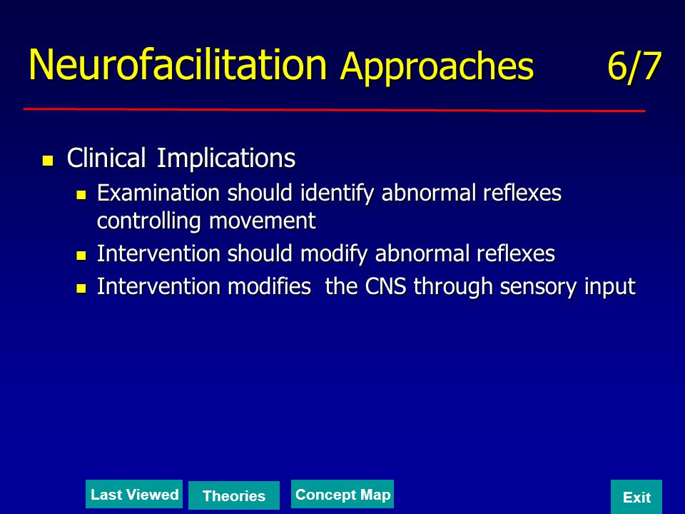 Neurofacilitation Approaches 6/7