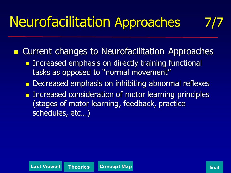 Neurofacilitation Approaches 7/7
