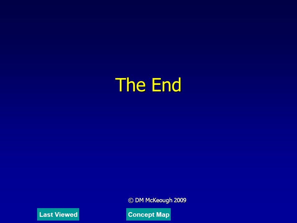 The End © DM McKeough 2009 Last Viewed Concept Map