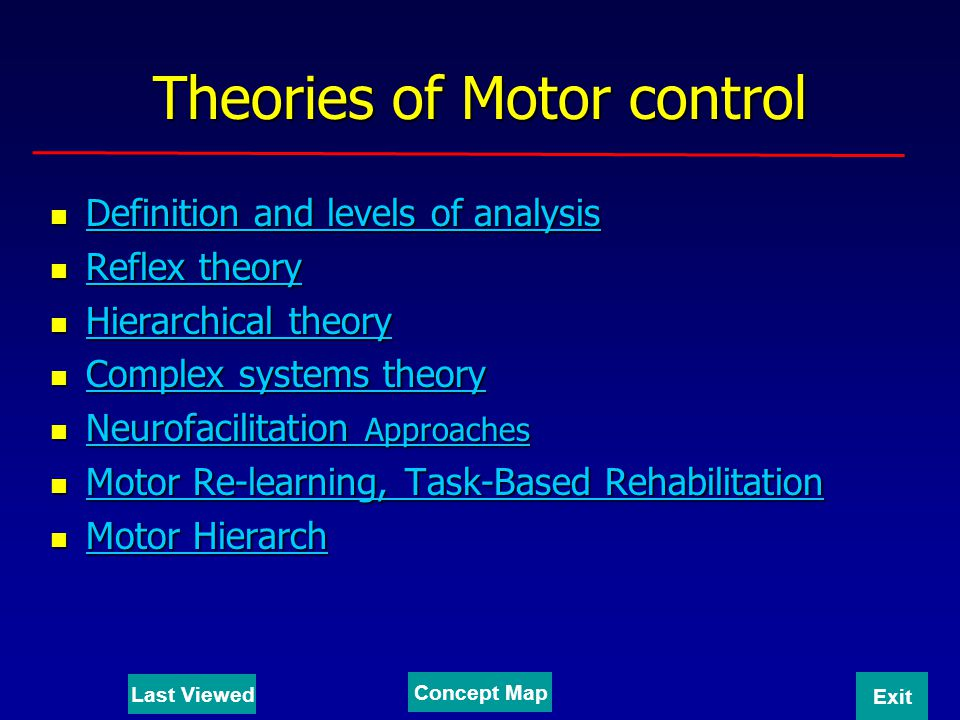 Theories of Motor control
