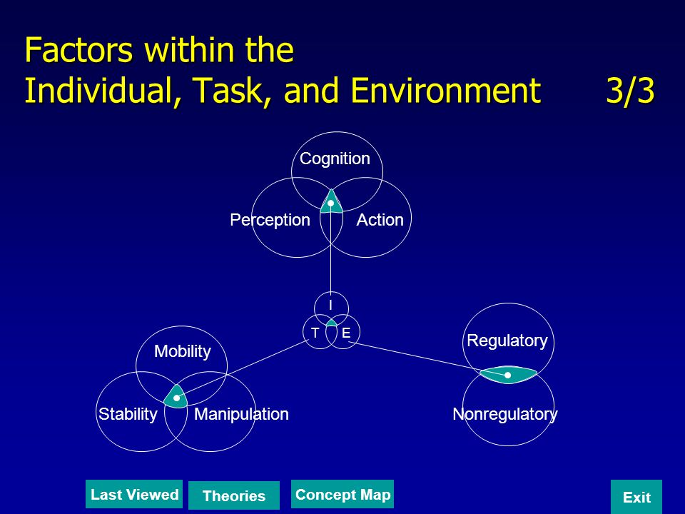 Factors within the Individual, Task, and Environment 3/3