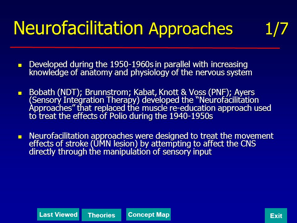 Neurofacilitation Approaches 1/7