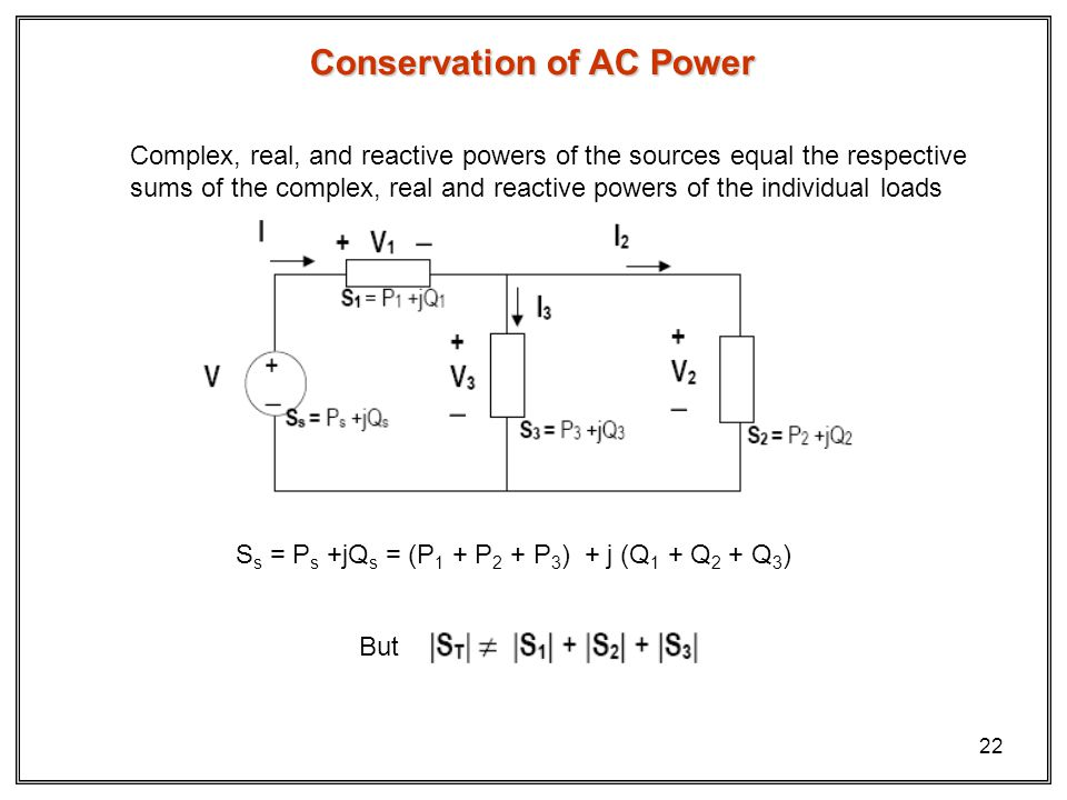 Conservation of AC Power