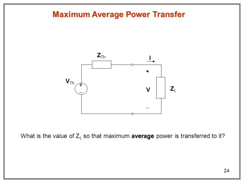 Maximum Average Power Transfer