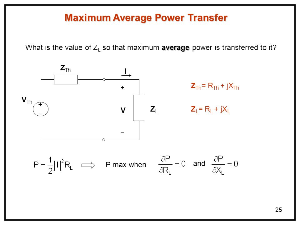 Maximum Average Power Transfer