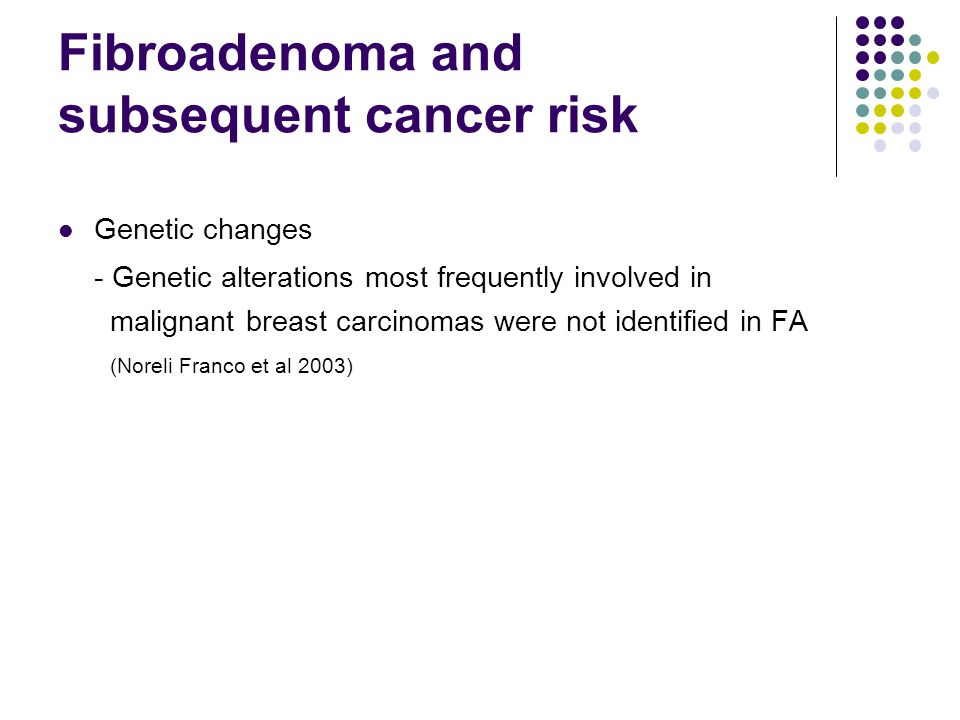 Fibroadenoma and subsequent cancer risk