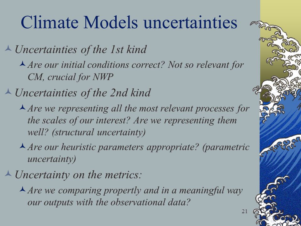 Climate Models uncertainties