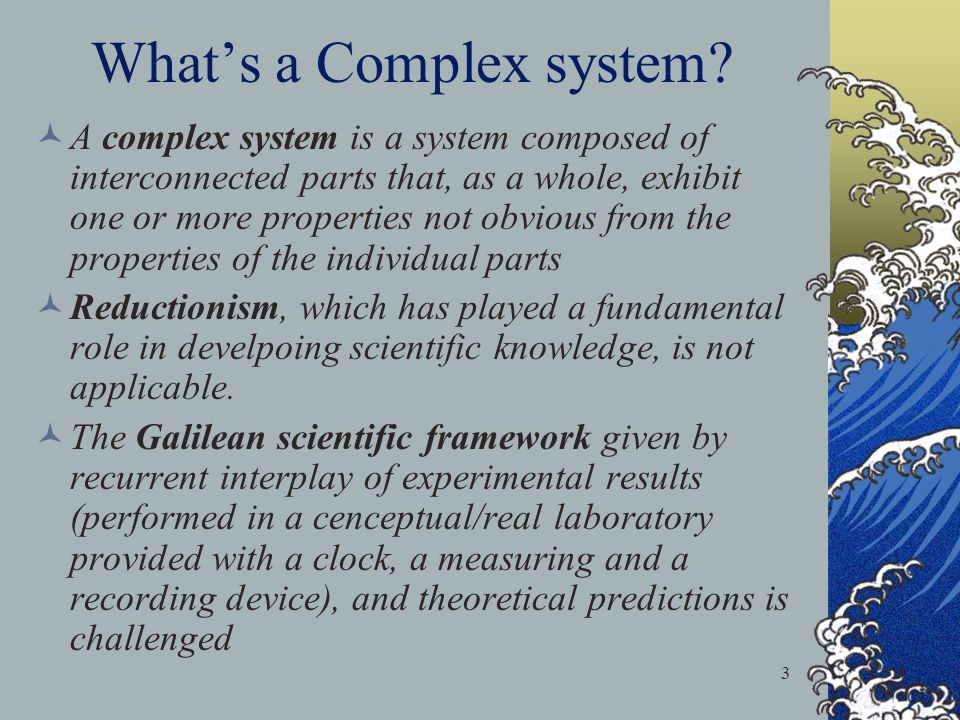 What's a Complex system