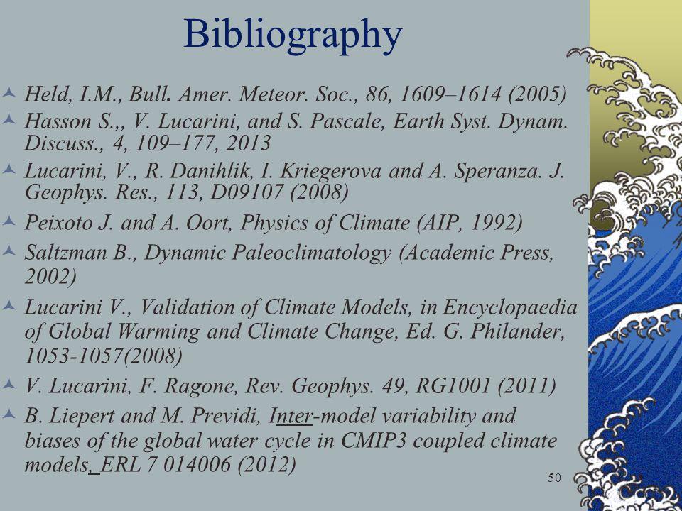 Bibliography Held, I.M., Bull. Amer. Meteor. Soc., 86, 1609–1614 (2005)