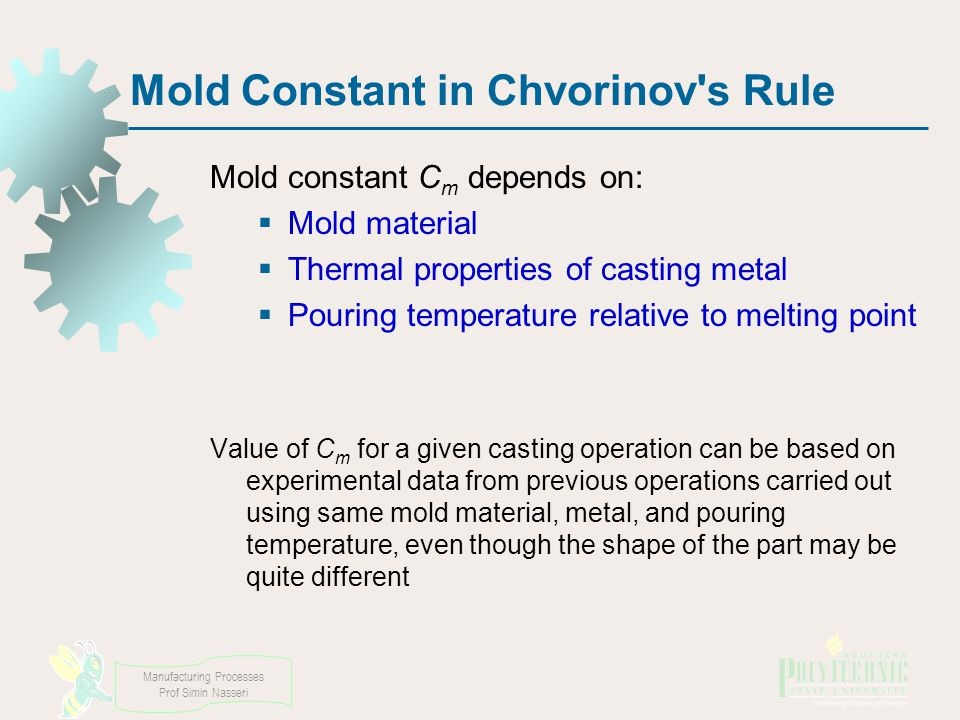 Mold Constant in Chvorinov s Rule