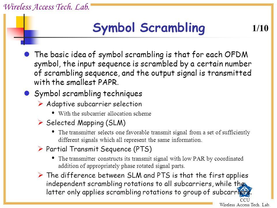 Symbol Scrambling 1/10.