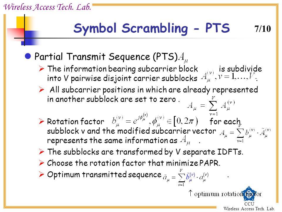 Symbol Scrambling - PTS