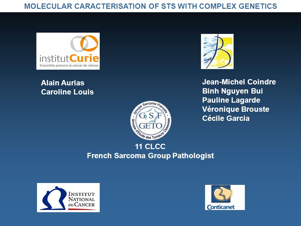 MOLECULAR CARACTERISATION OF STS WITH COMPLEX GENETICS