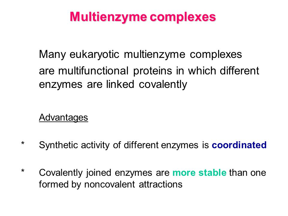 Multienzyme complexes