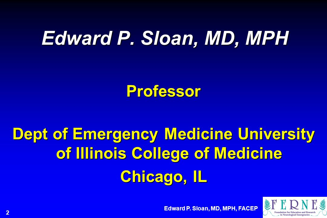 Dept of Emergency Medicine University of Illinois College of Medicine