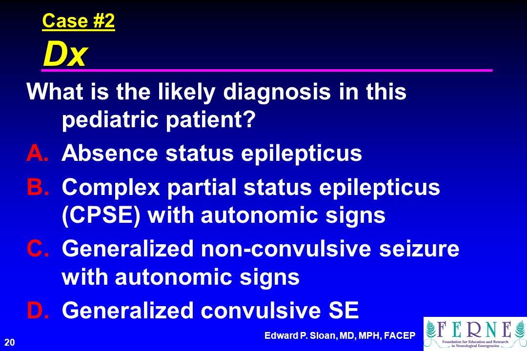 What is the likely diagnosis in this pediatric patient