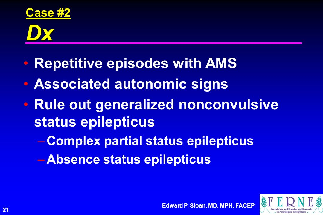 Repetitive episodes with AMS Associated autonomic signs
