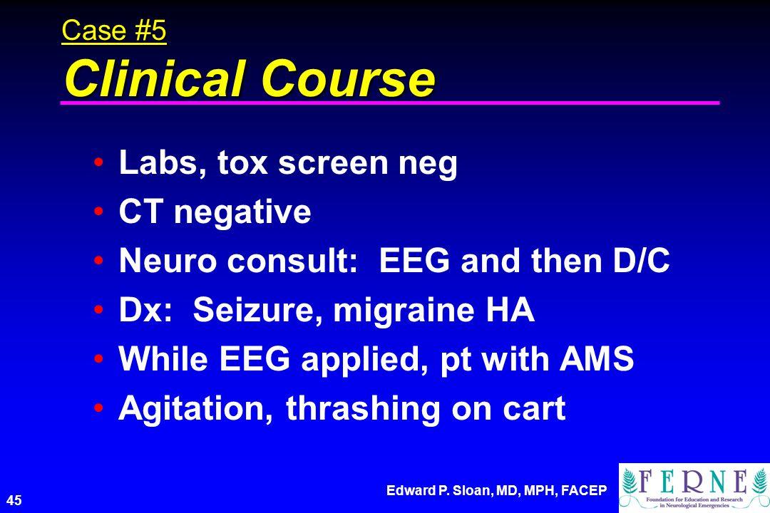 Neuro consult: EEG and then D/C Dx: Seizure, migraine HA