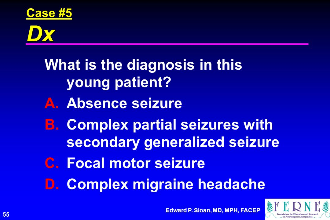 What is the diagnosis in this young patient Absence seizure