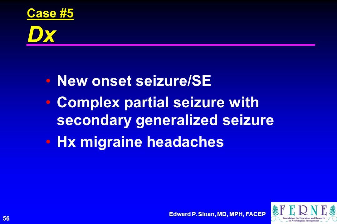 Complex partial seizure with secondary generalized seizure