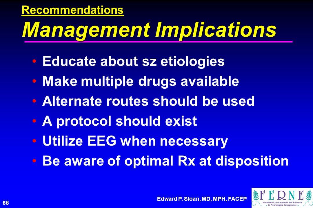 Recommendations Management Implications