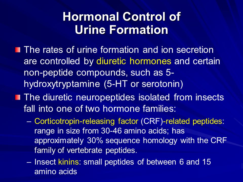 Hormonal Control of Urine Formation