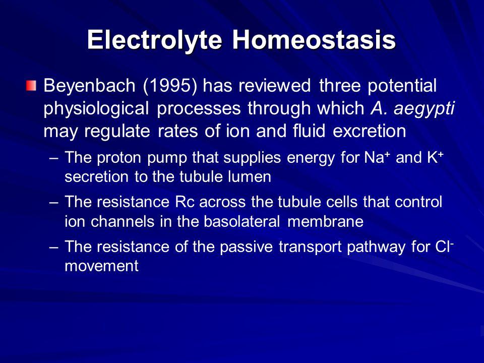 Electrolyte Homeostasis