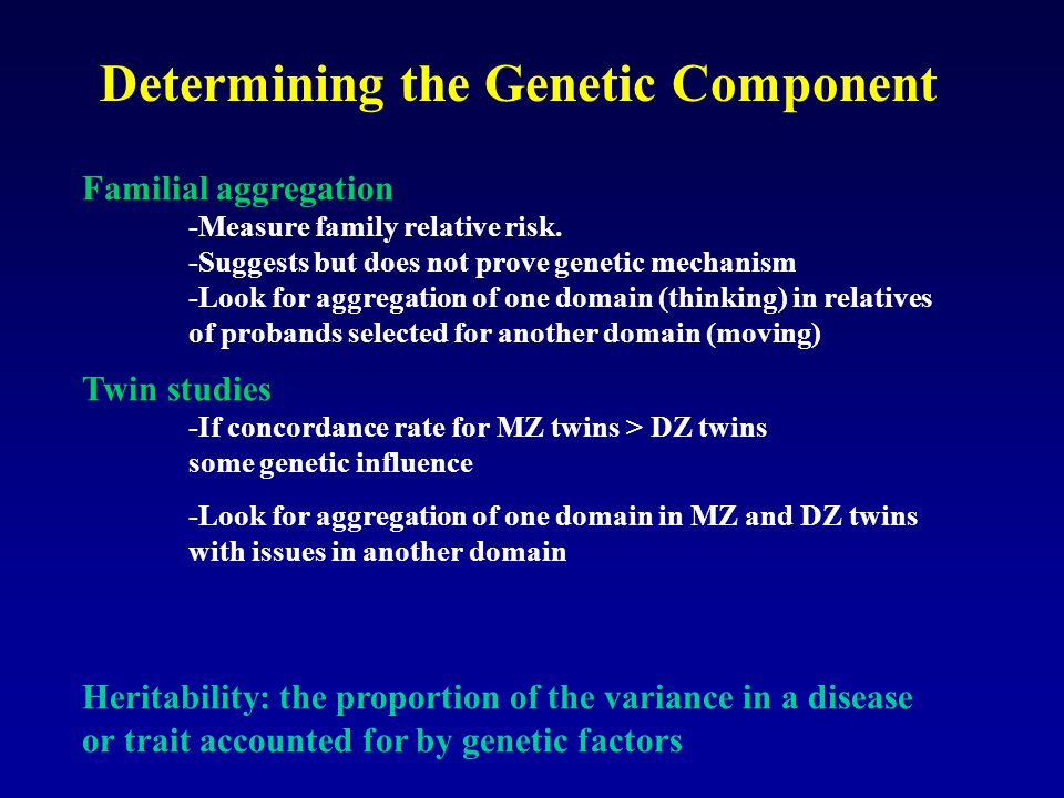 Determining the Genetic Component