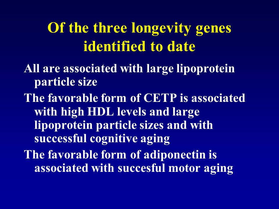 Of the three longevity genes identified to date