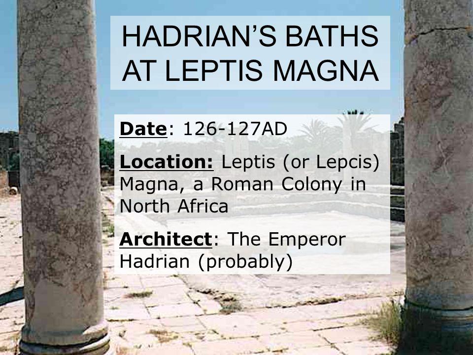 HADRIAN'S BATHS AT LEPTIS MAGNA
