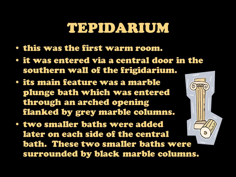 TEPIDARIUM this was the first warm room.