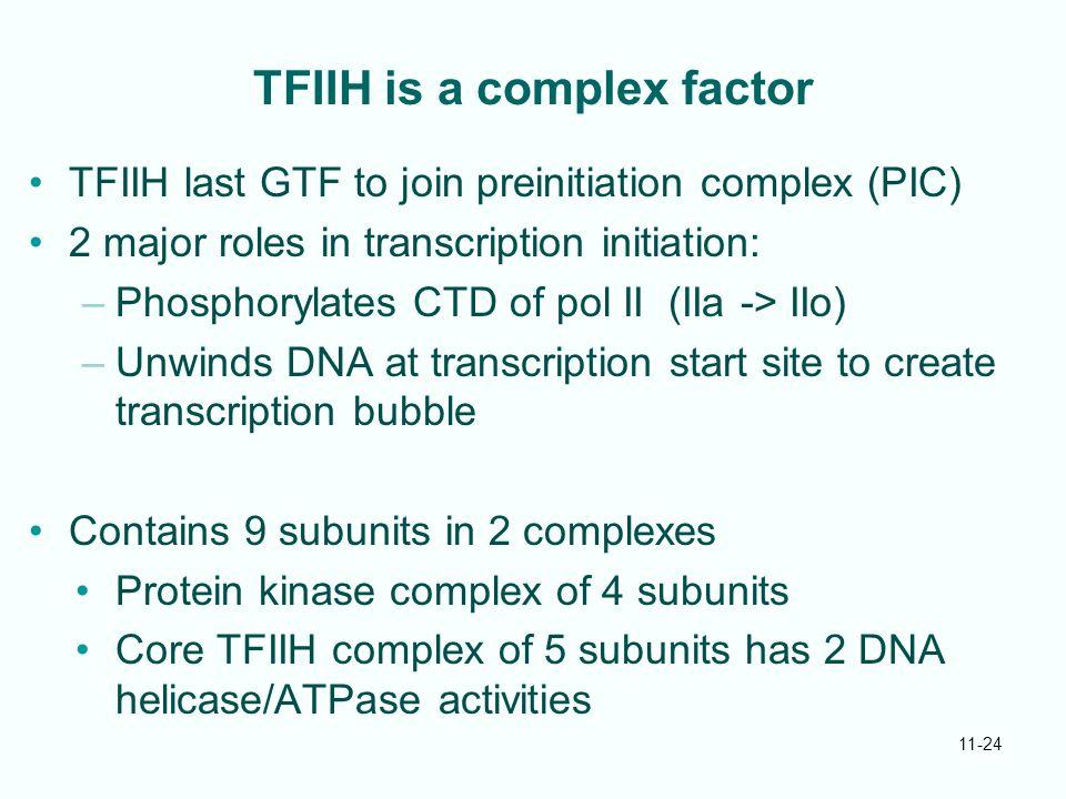TFIIH is a complex factor
