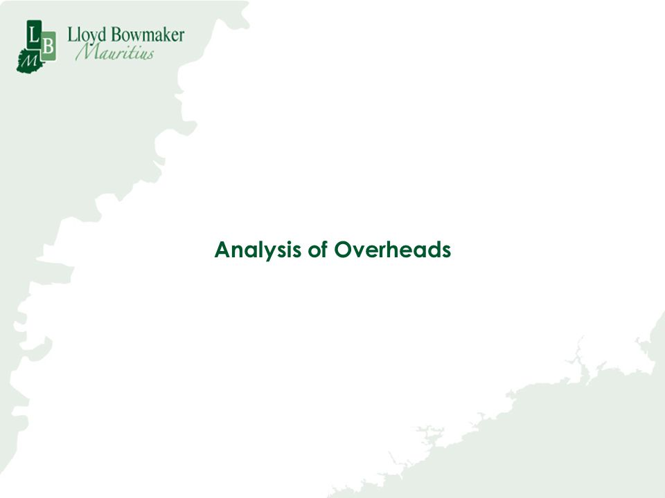 Analysis of Overheads