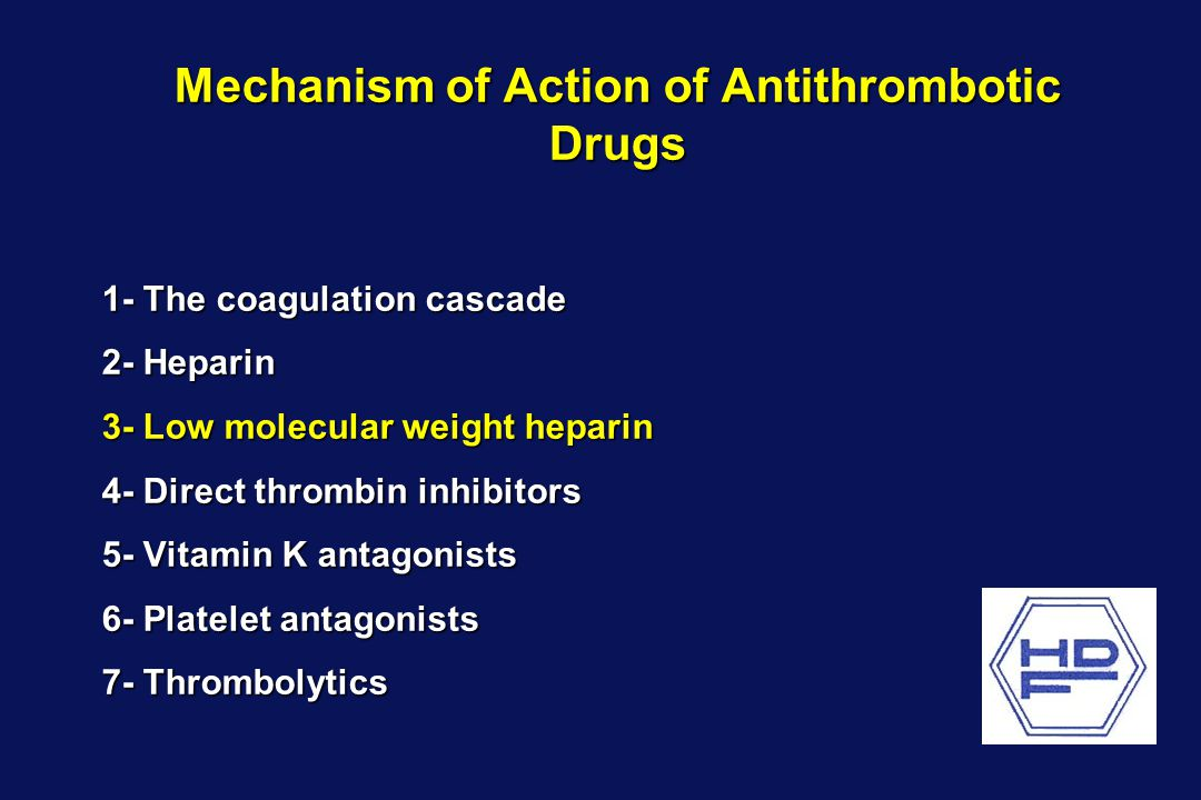 Mechanism of Action of Antithrombotic Drugs