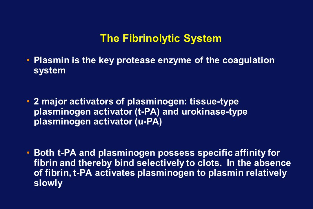 The Fibrinolytic System
