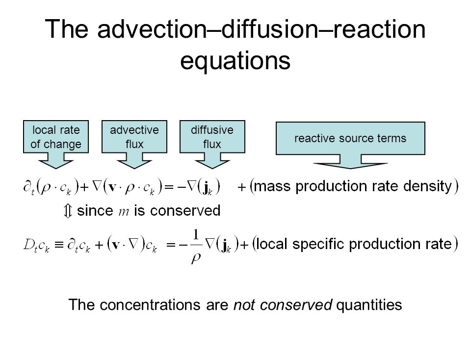 The advection–diffusion–reaction equations