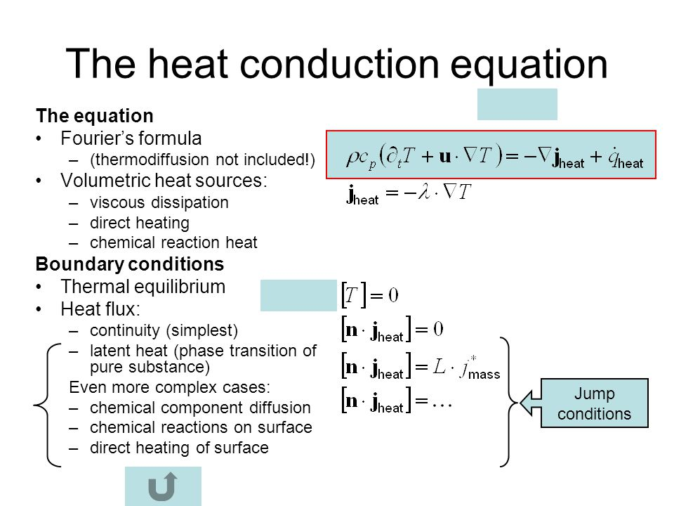 The heat conduction equation