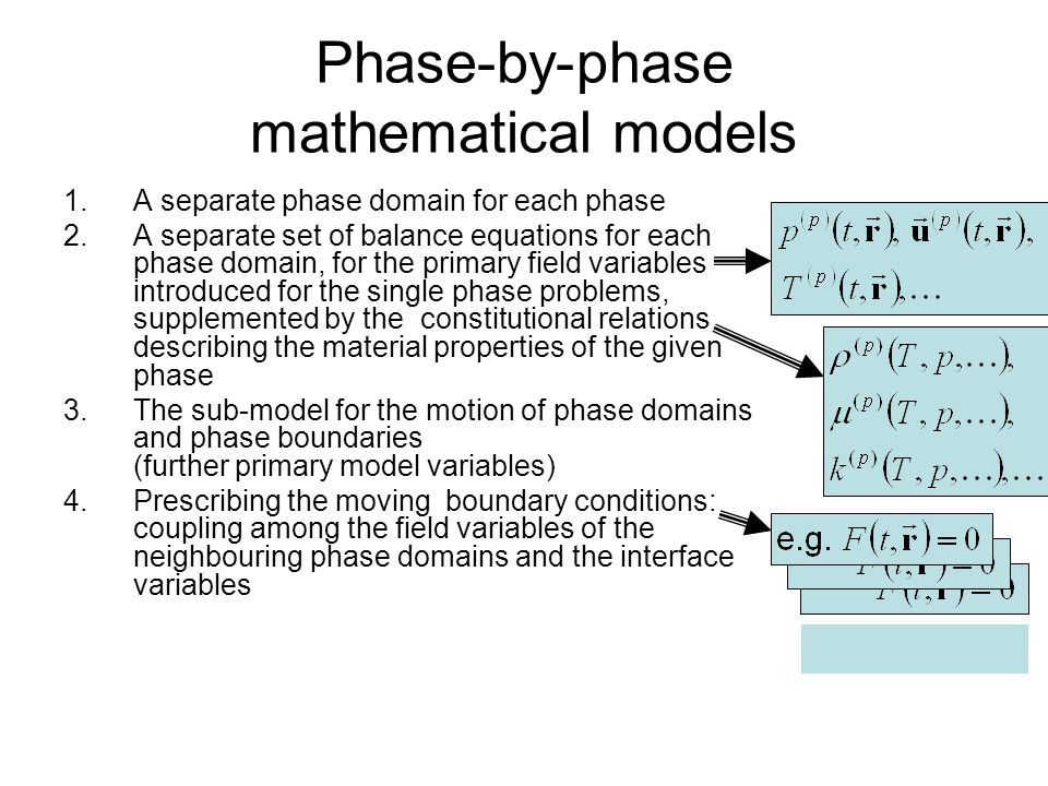 Phase-by-phase mathematical models