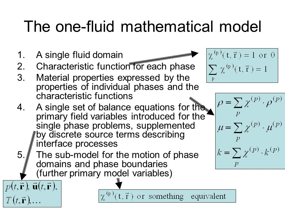 The one-fluid mathematical model