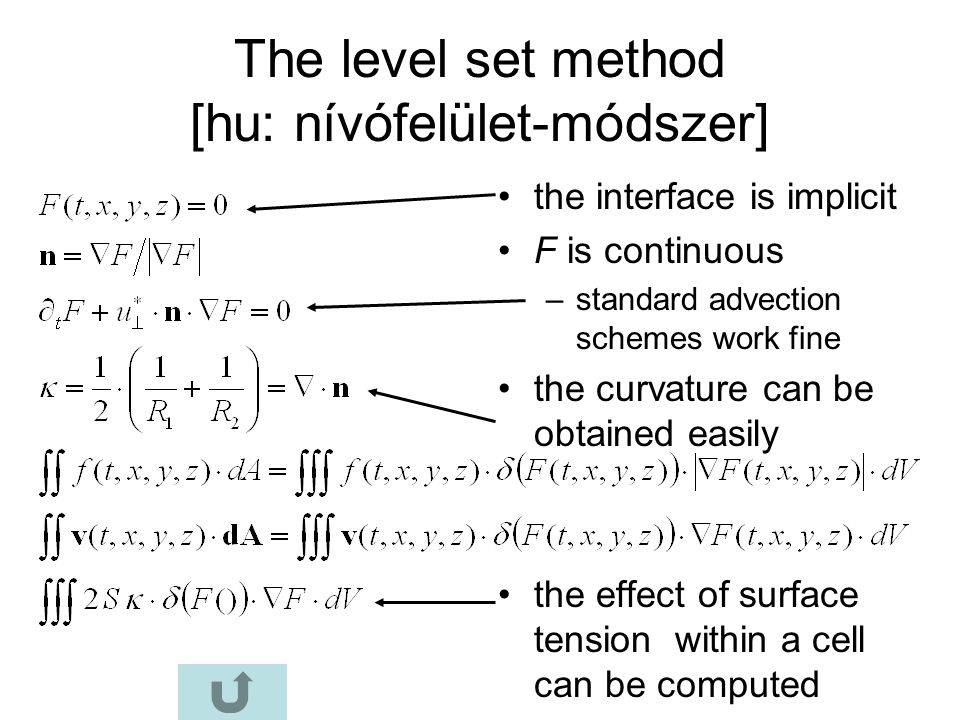 The level set method [hu: nívófelület-módszer]